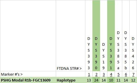 PSHG Haplotype Y7